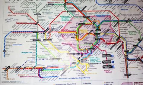 JR map Tokyo