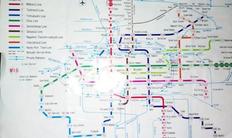 JR Osaka map